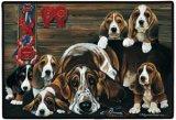 basset dog door mat